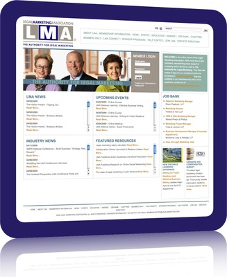 Legal Marketing Association Home Page Image